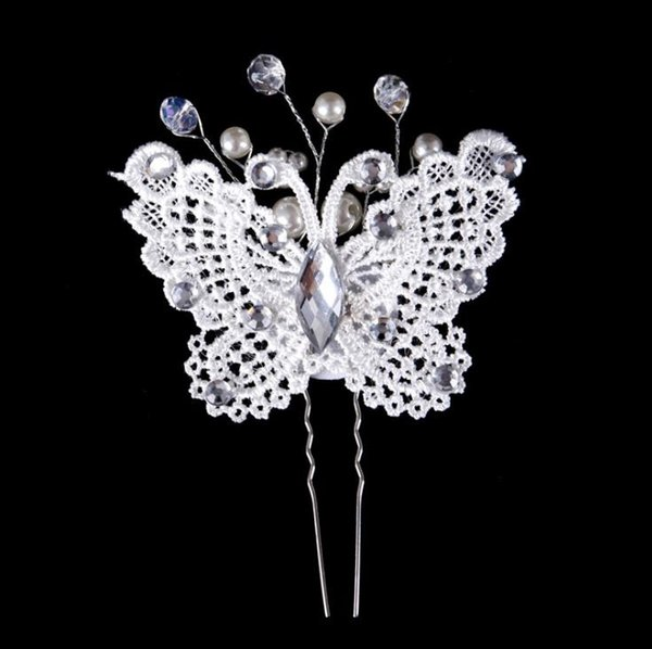Bride and butterfly hairpin, handmade pearl hair accessories, bride accessories, hairpin