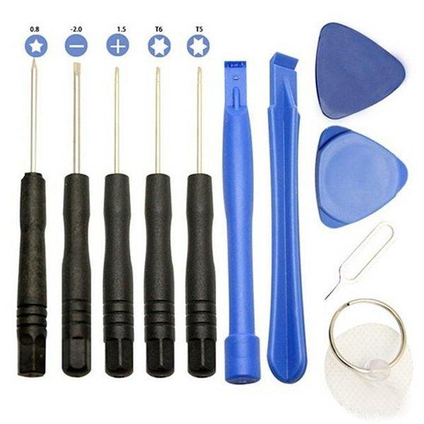 Teléfonos profesionales 11 en 1 Apertura de kits de herramientas de reparación de palanca Juego de herramientas para destornilladores para teléfonos inteligentes para iPhone Samsung HTC Moto Sony STY126