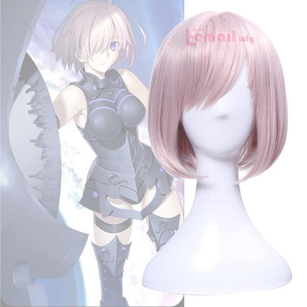 Fate / Grand Order Mash Kyrielight Demi-Servant Shielder Pink Short Cosplay Wig