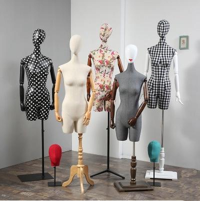 New Design Dressmaker Mannequin Fabric Female Fiberglass Model On Promotion Hot Sale
