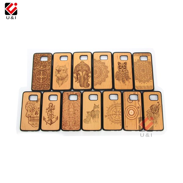 Online Shopping Free Shipping Many Designs Natural Cherry Wood Cell Phone Case For Samsung Galaxy S7 S8 S9 S10 Plus Note 8 9