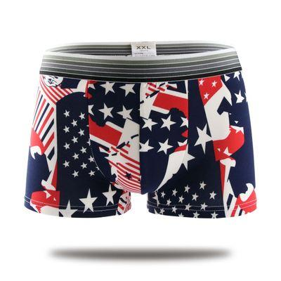 Sexy Summer Ice Men Boxer Shorts Men 'S Cartoon Underwear Comfortable Breathable Shorts Print Men Underpants 10pcs /Lot