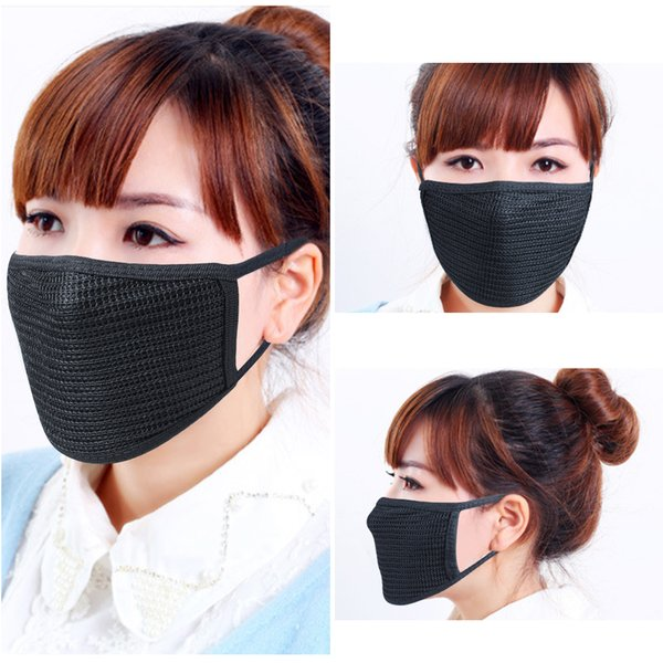 Black Recycled Dust-resistant Cotton Mouth Masks For Women Of Both Genders Are Available For New &Hot Sales