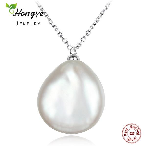 Collier pendentif argent massif 925 perle d/'eau douce blanche naturel