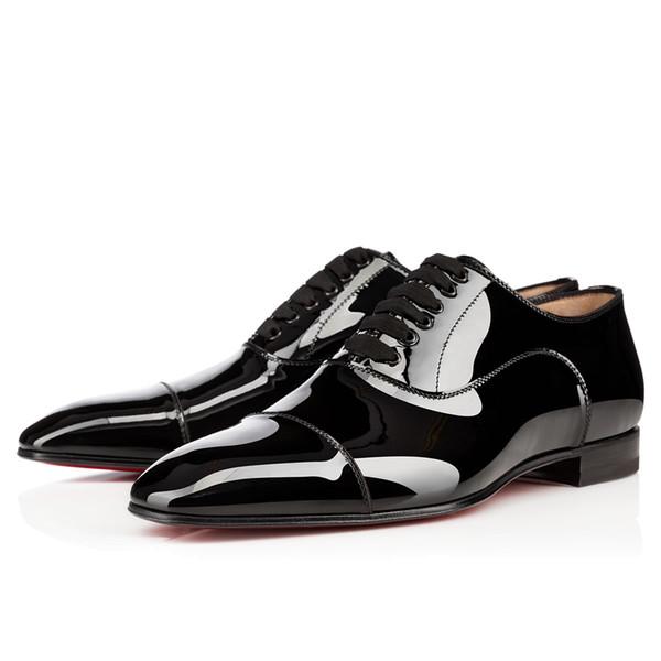Gentleman Party / Vestito / Uomo d'affari Red Bottom Oxford Uomo Greggo Flat da uomo Chaussure Homme Luxury Mocassini Scarpe Walking 35-46 Spedizione gratuita