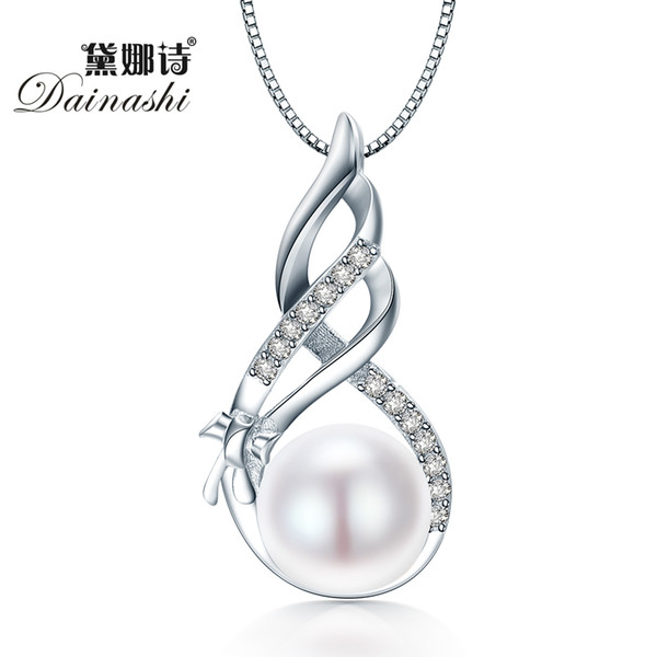 Dainashi Amazing Price 925 Sterling Silver Jewelry High Quality Luster Natural Pearl Jewelry White/Pink Pendant Gift Box S18101308