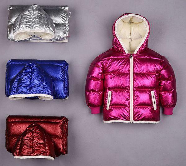 Großhandel Robuste Daunenjacke Kinder Kinder Kapuzenmantel Glänzenden Stil Jungen Mädchen Winter Hoodies Outwear Wasserdichte Mode Von Macy1098,