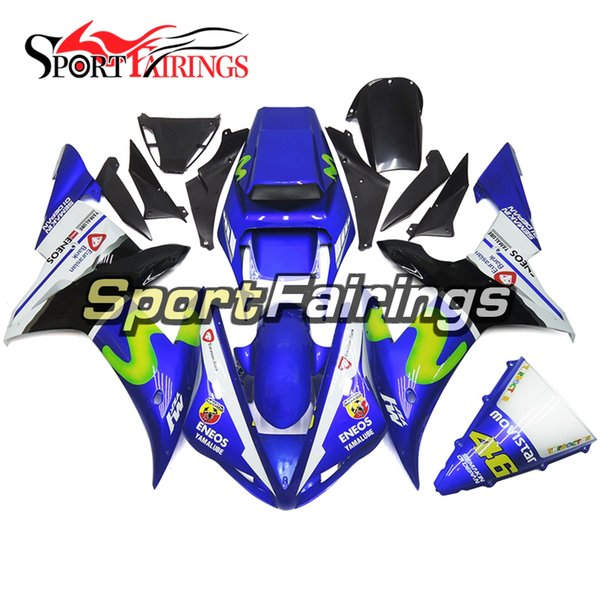 Full Fairing Kit For Yamaha YZF R1 02 03 2002 2003 Injection ABS Plastics Motorcycle Bodywork Customize Body Kit Gloss Blue White Covers New