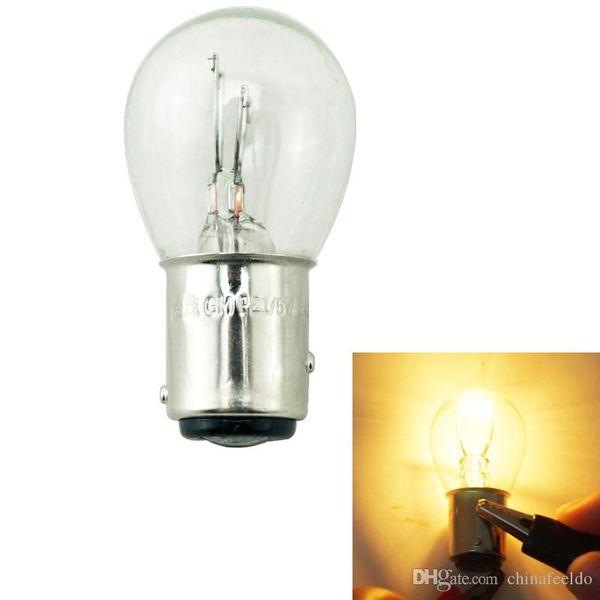 wholesale 24V BAY15D 1157 P21/5W S25 Car Clear Glass Lamp Brake Tail Bulb Truck Bus Indicator Halogen Lamp #1227