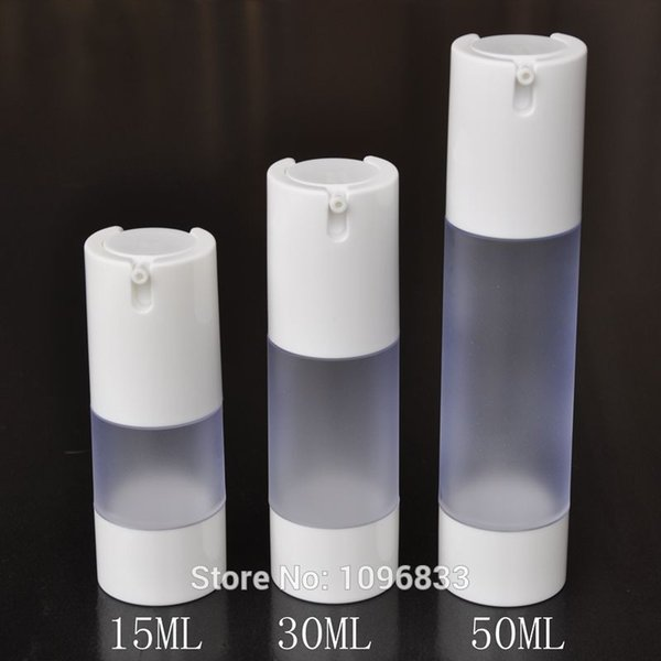 15ML 30ML 50ML Frosted Airless Bottle White Cap, Cosmetics Serum Lotion Gel Packaging Bottle, Vacumm Bottle, 20pcs/Lot