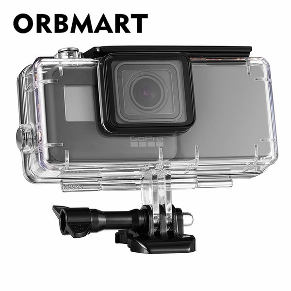 ORBMART Waterproof Protective Case Cover Housing Shell With 2300 mAh Extended Battery Side Power Bank For Hero 5 6 Camera