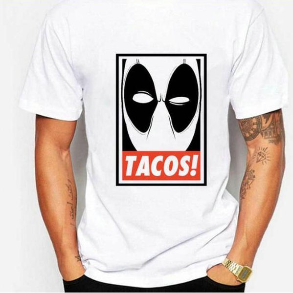 Deadpool t shirt Tacos soft short sleeve gown Quick dry sport tees Colorful clothing Quality cotton Tshirt