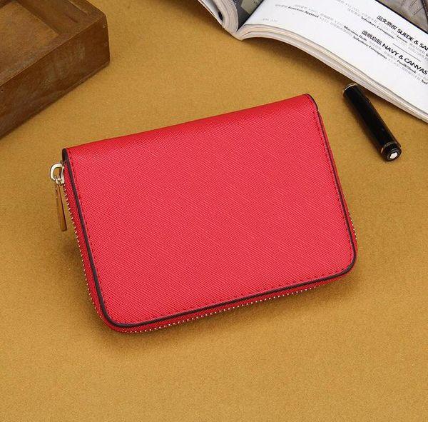 7 colors designer new Good Quality cheap women lady Fashion classic designer textured leather mini wallet purse
