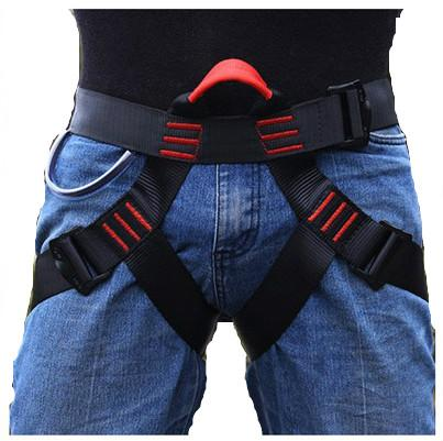 best selling Rock Climbing Harness Protect Waist Safety Harness Half Body Harness for Mountaineering Fire Rescuing Rock Rappelling Climbing NY040