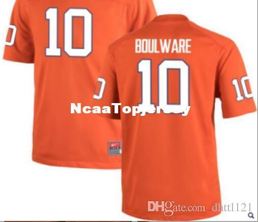 Cheap Men #10 white Orange Ben Boulware Clemson Tigers Alumni Jersey Stitched Football jerseys
