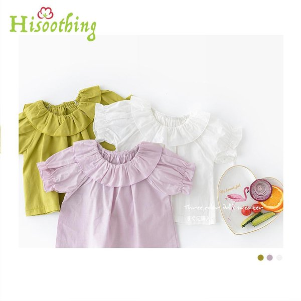 Baby Girl 18 Summer Clothes Short Sleeve Blouse Lotus Leaf Collar Blouse Korean Style Cute Shirt For Infant Girl wholesale