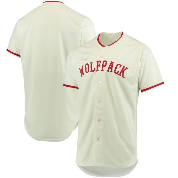 NCAA Benutzerdefinierte NC State Wolfpack Baseball Trikots Weiß Männer Frauen Jugend Jeder Name Beliebige Anzahl Stickerei College Baseball Jersey S-4XL