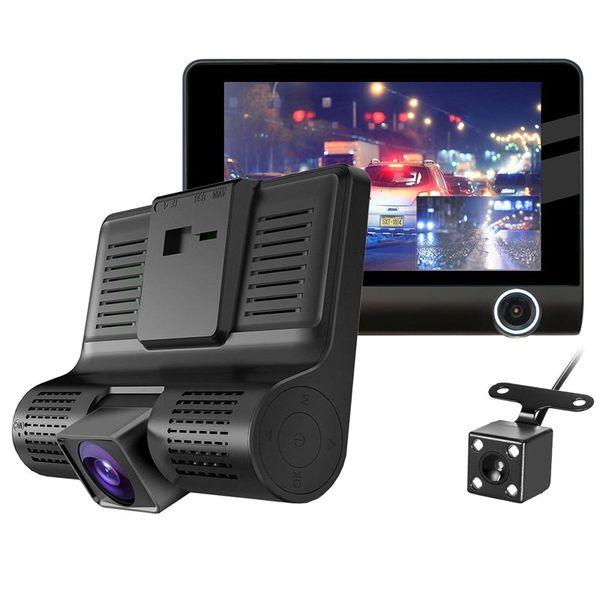 New E-ACE Car DVR 3 Cameras Lens 4.0 Inch Dash Camera Dual Lens With Rearview Camera Video Recorder Auto Registrator Dvrs Dash Cam With box