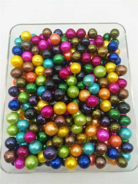 Mixed Colors A Grade 8.5-11mm Rainbow Colored Edison Loose Pearls Round Big Huge Large Pearl Edison Pearls