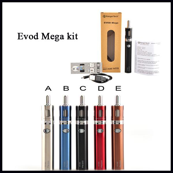 Kangertech Evod Mega E-sigara Başlangıç Kiti Ile 2.5 ml Atomizer 1900 mAh Pil 100% Orijinal VS Subox Mini Kiti