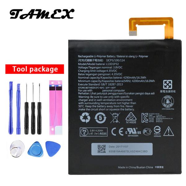 L13D1P32 New High Quality Battery For Lenovo Lepad Tab A8-50 A5500 S8-50 TAB 3 Tab3 8 inch TB3-850F TB3-850M 4290mAh + Tools