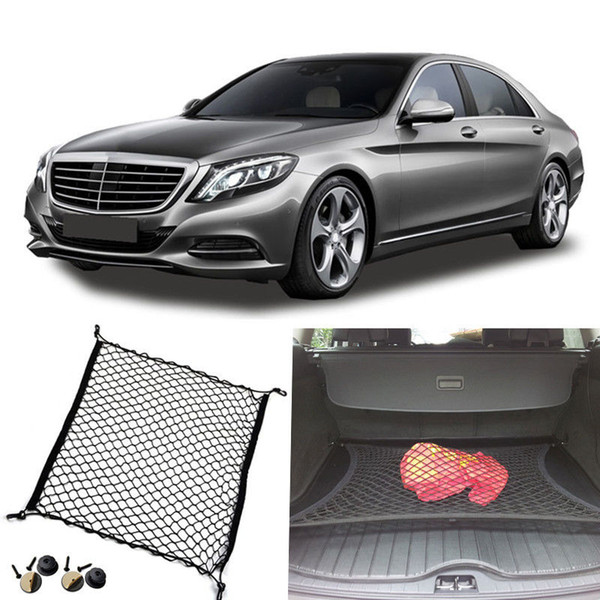 1 stücke Für Benz Klasse S AMG Auto Kofferraum Gepäck Organizer Lagerung Net Gepäck Organizer Nylon Liner DIY