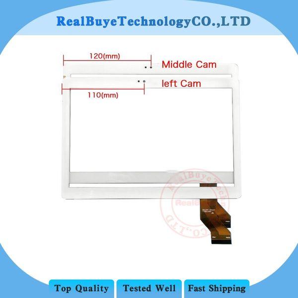 A + pantalla táctil de 10.1 pulgadas para YUNTAB K107 3G tableta táctil panel digitalizador de vidrio / reemplazo de película de vidrio templado