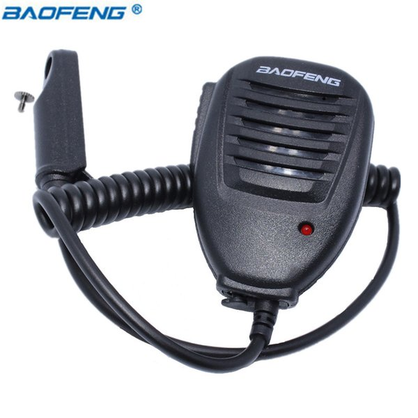 Walkie Talkie Accessories BAOFENG Speaker Waterproof Mic for BF-A58 BF-9700 UV-9R UV-XR Two Way Radio Walkie Talkie Black Micro