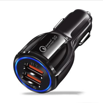 top popular For Samsung Galaxy S9 QC 3.0 Fast Car Charger 3.1A Quick Charge Dual Usb Port For iPhone X With Retail Package A668 2021