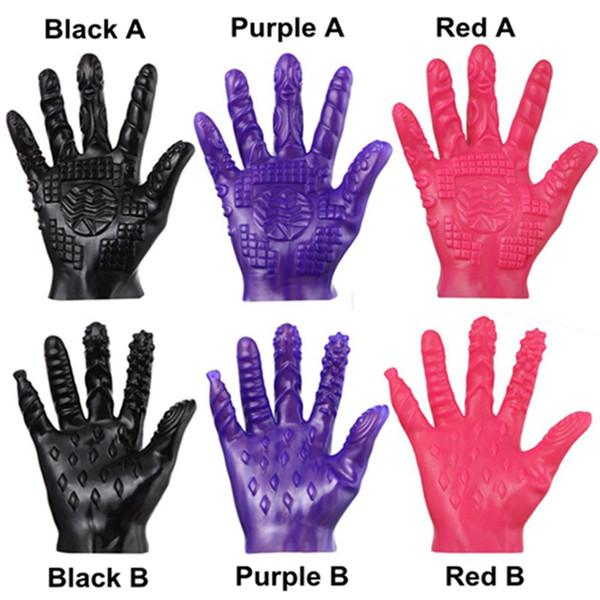 best selling Creative Masturbation Gloves Erotic Massage Flirting Adult Sex Toy Massager Gloves Waterproof Soft Glove for Couples Men Women DHL