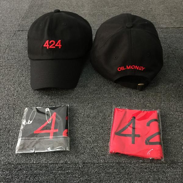 2018 Men Women Hat 424 Digital Embroidery Cap Hip Hop Kanye West Four Two Four cap baseball Get armband Tops Caps IACB Store