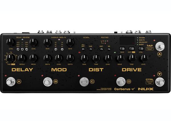 NUX Cerberus Multi Chitarra Effetti a pedale Ritardo Qverdrive Distorsione Effetti di modulazione all'interno del routing IR Loader 4 Metodo cavo
