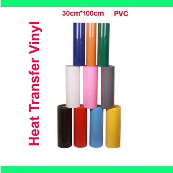 "Free shipping 12""x40""/30cmx100cm PVC Heat Transfer Vinyl Heat Press Machine T-shirt Iron On HTV Printing"