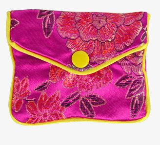20pcs rose red Floral Zipper Coin Purse Jewelry Silk Purse Pouch Gift Bag,Chrismas Easter Halloween New Year Wedding Birthday Party Gift Bag