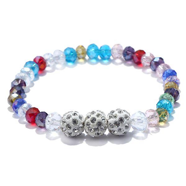 Women's Bracelets Bangles Colors Mixed Healing Crystals Beads Bohemia Handmade Chakra Pray Mala Heart Charm Bracelet Jewelry