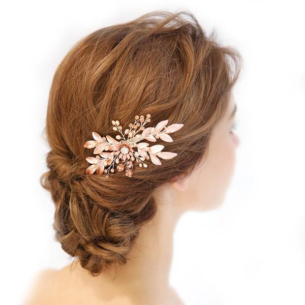 1pc Bride Headdress Hair Clip Crystal Bridal Pearl Hair Accessory Headpiece Headwear for Banquet Prom Engagement Party Wedding C18110901