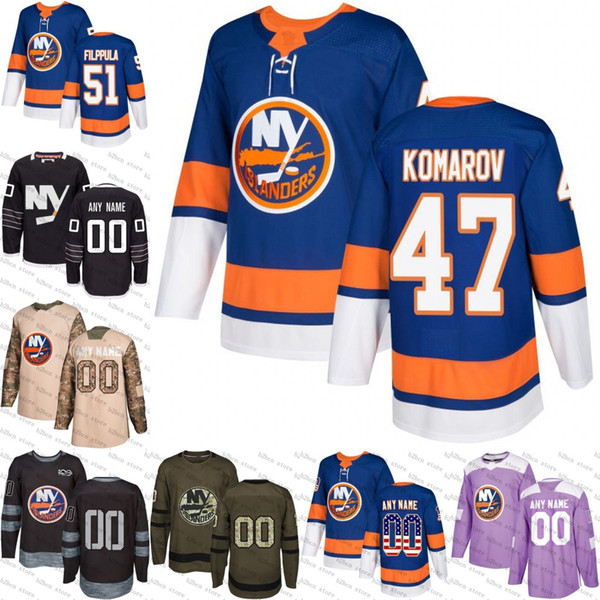 detailed look 979ec 99c94 2019 2018 Men'S New York Islanders 51 Valtteri Filppula 47 Leo Komarov Ice  Hockey Jersey,Authentic Jersey Embroidery Logos Size S 3XL From ...