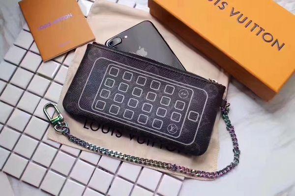 2019 M64433 2018 New Women's Clutch Wallet Leather Purse Bag Key Chains WALLETS PURSE Mini Clutches Exotics EVENING CHAIN Belt Bags