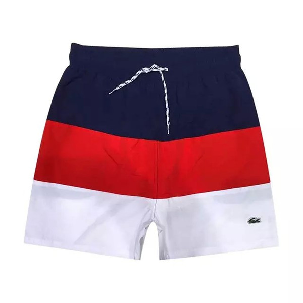 best selling new summer beach men shorts Crocodile shark solid casual loose elastic waist shorts Swimwear Bermuda Male Letter Surf Life Men Swim 2018