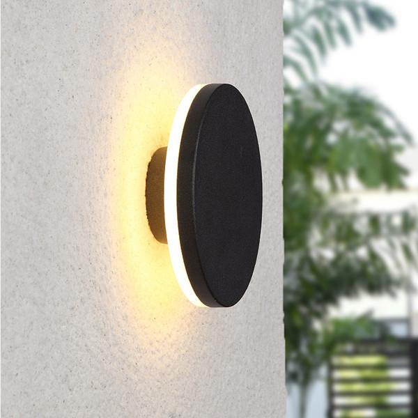 Yuvarlak kare ay ışık tuvalet dekorasyon 9 W LED Duvar aplikleri açık bahçe dekorasyon led duvar aydınlatma