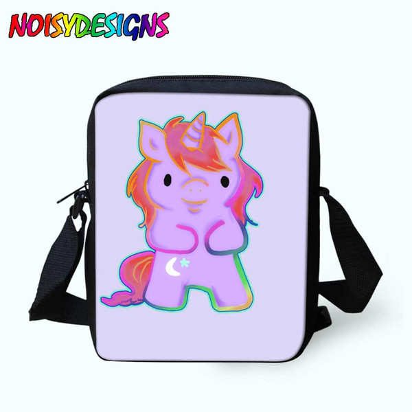 Noisydesigns Unicorn Printing One Shoulder Straps for Carrying Comfort pocket pussy Messenger Bag Unisex School Bags