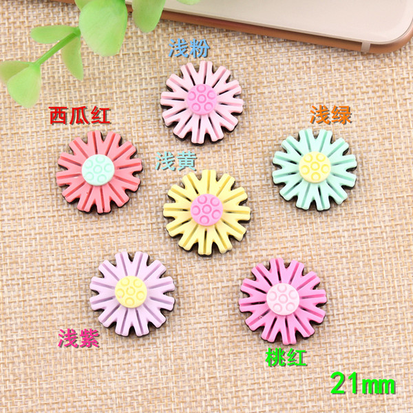 21mm Small daisy charms DIY resin jewelry accessories flower petals children hair ornament materials handmade originality