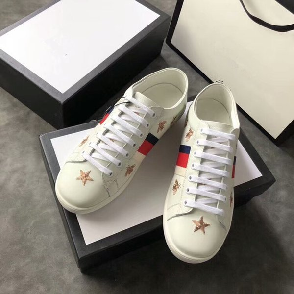 2019 Best Designer Comfort Pretty Girl Women's Sneakers Casual Leather Shoes Solid Colors Men Womens Sneakers Dress Shoe Sports gc18062214