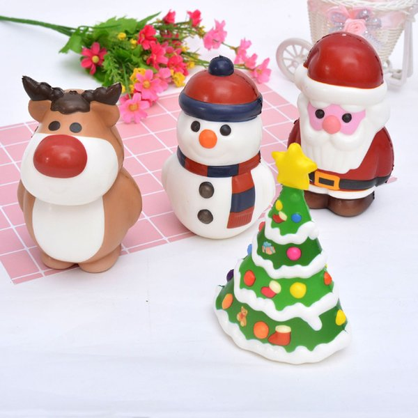 New Slow Rising Squishy Toys Santa Claus Jumbo Squishies Christmas Decorations Squishy Snowman Christmas Tree Decompression Toys Gift B