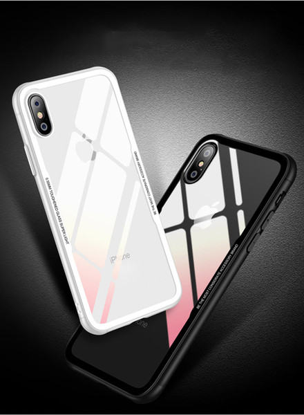 Silicone TPU Transparents Phone Shell Anti-Fingerprint Anti-Fall Anti-Scratch Camera Protection Back Cover For iPhone X 7/8 7/8P Five Colors