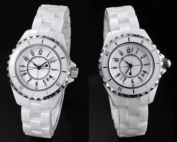 free shipping Classic female ceramic watch Women's fashion watch lady's watches Lovers quartz watch men's sport watches best gift 1pcs