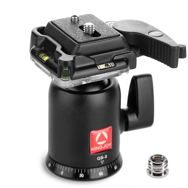KINGJOY QB-0 Heavy Duty Photography Camera Tripod Ball Head 360 Degree Rotation Panoramic Ballhead with 1/4in Screw Quick Rele