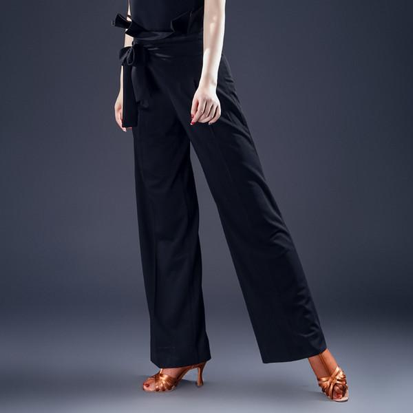 2018 New Brand Latin Dance Trousers Women Dance Costumes Bottoms High Waist Salsa Tango Rumba flamengo Ballroom hot sale A284