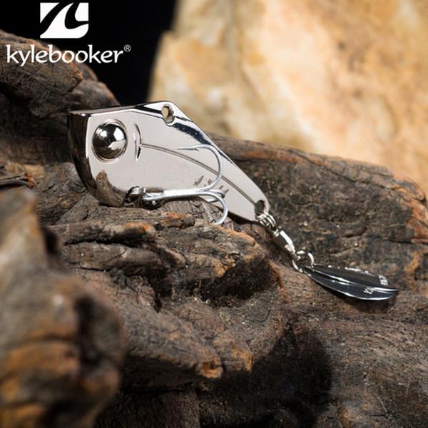 KyleBooker rey kong mosca pesca cuchara señuelos de metal señuelos de pesca duro oro plata 7g 10g 14g 18g 20g 27g