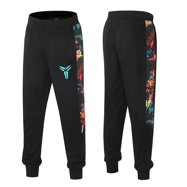 lww59134 / Hombres Kobe baloncesto Pantalones deportivos de impresión de empalme pantalones casuales Pantalones de fitness nuevo estilo al por mayor